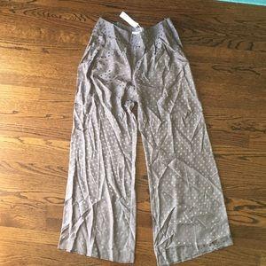Trina Turk Silk wise leg pants. Size 8